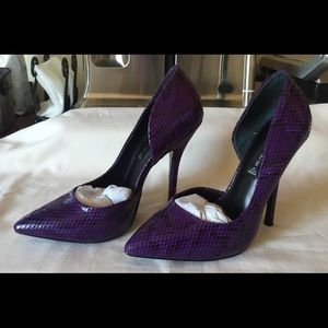 cee54572776 Steven By Steve Madden Shoes - Steven by Steve Madden Purple NEWBEE Heels  Sz 7.5
